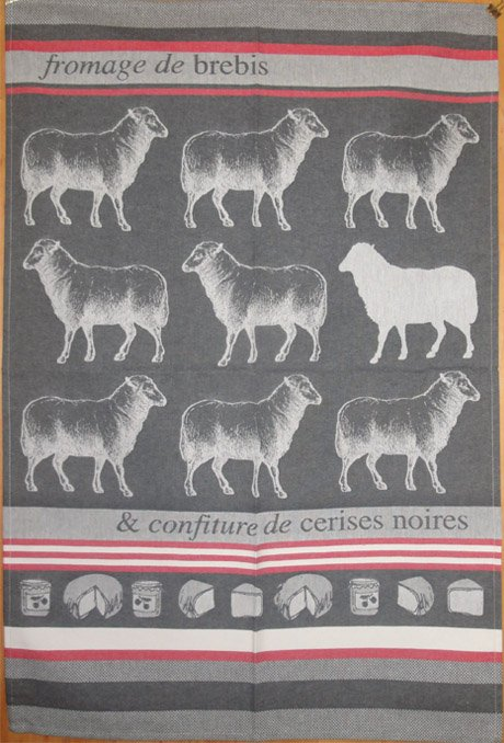 Jean Vier Sheep tea towel #2