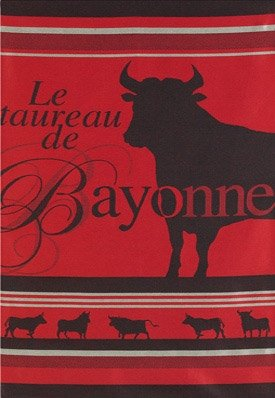 Jean Vier Tea Towel The Bull from Bayonne