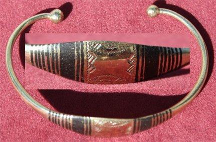Malian Nickel-Ebony Bracelet #1