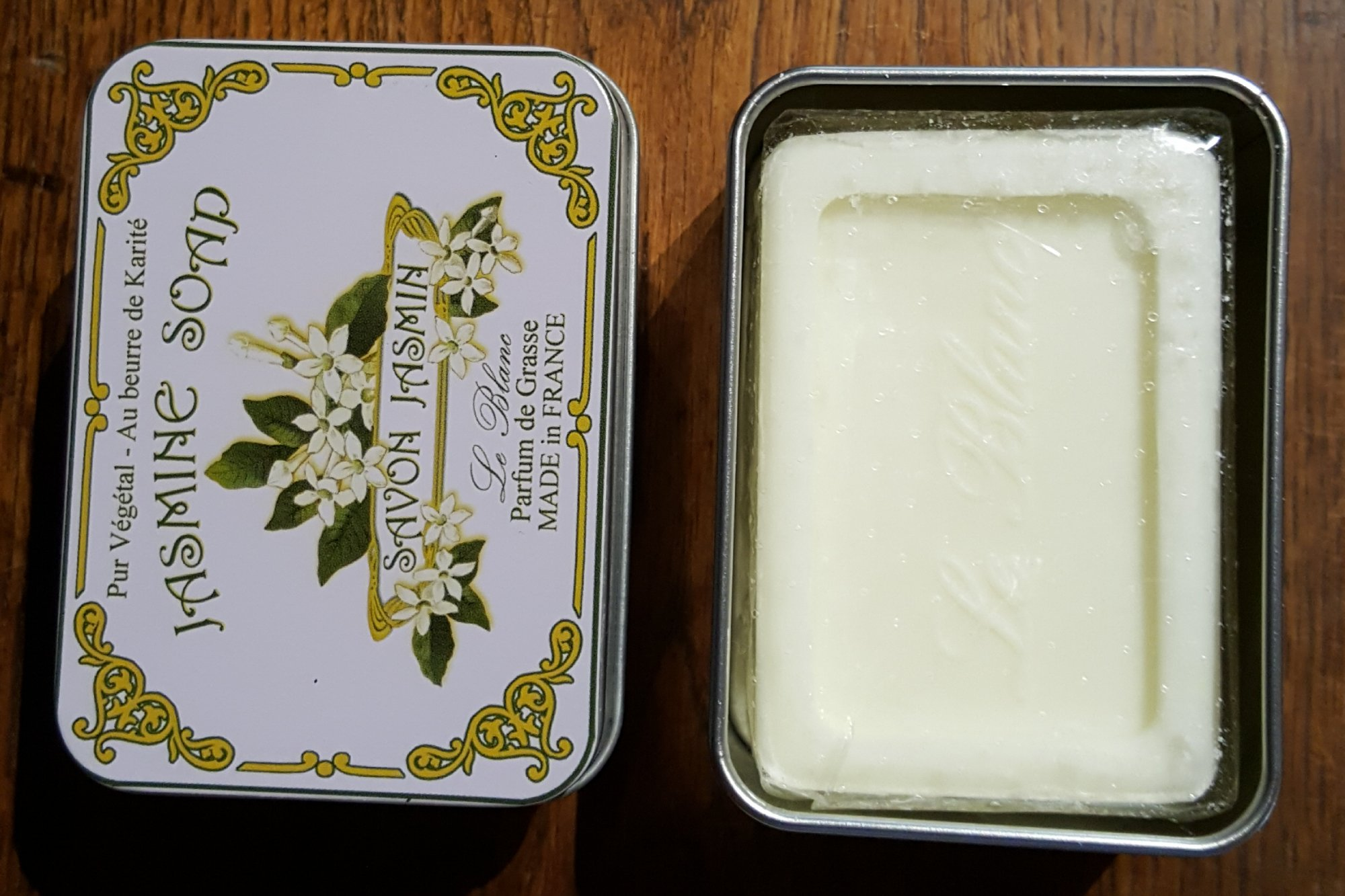French Jasmin Soap in a tin by Le Blanc