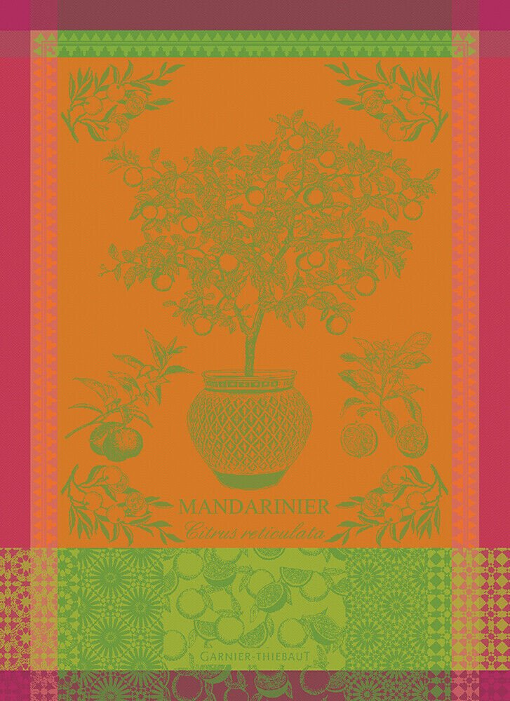 Garnier-Thiebaut Potted Mandarin Orange Tree Towel