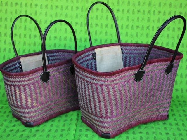 Madagascar Basket - Claret/Gray