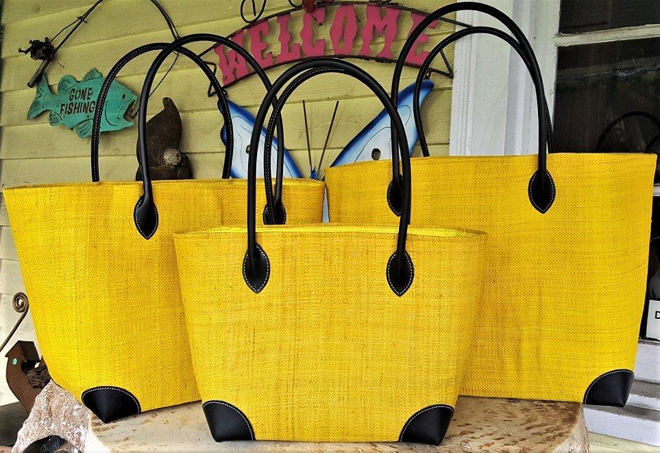 Madagascar Raffia Bag in Lemon