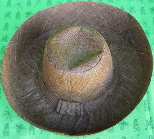 Madagascar Classic Brimmed Raffia hat in Brown