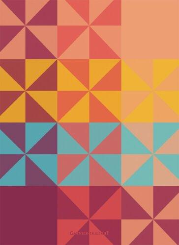 Garnier-Thiebaut Colorful Crystal Pattern Towel