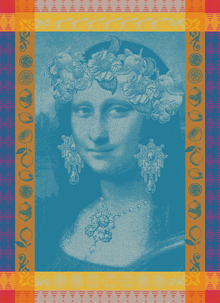 Garnier-Thiebaut Mona Lisa Tea Towel