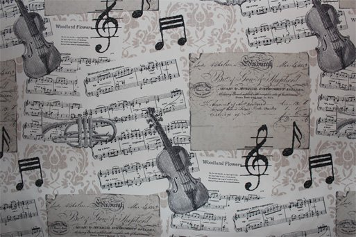 French Musical Instrument Fabric