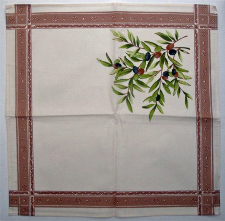 Olive Branch Napkin (Off-White)