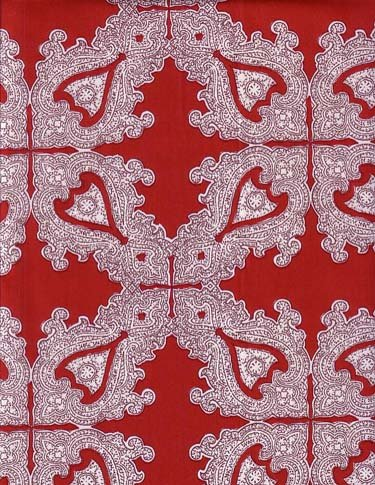 Souleiado Palmyre Red 94-inch wide fabric