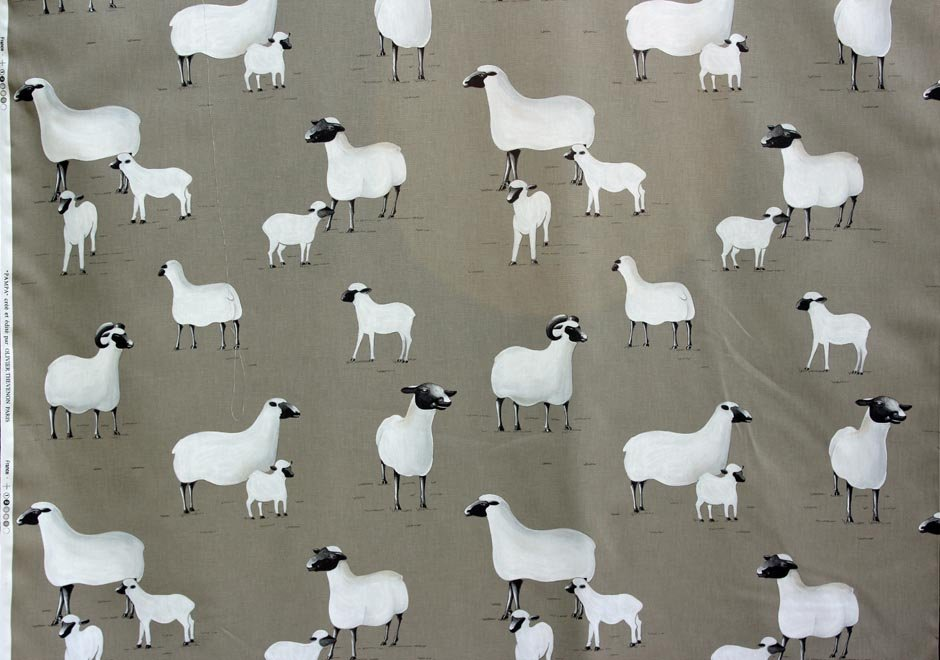 French Sheep Drapery Fabric #40