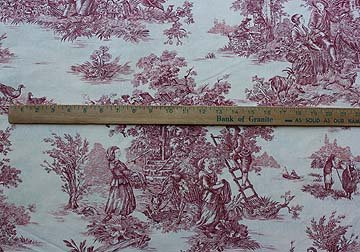 French Red County Toile #034