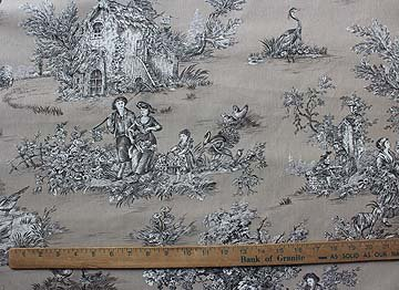 French Pastoral toile on taupe #81