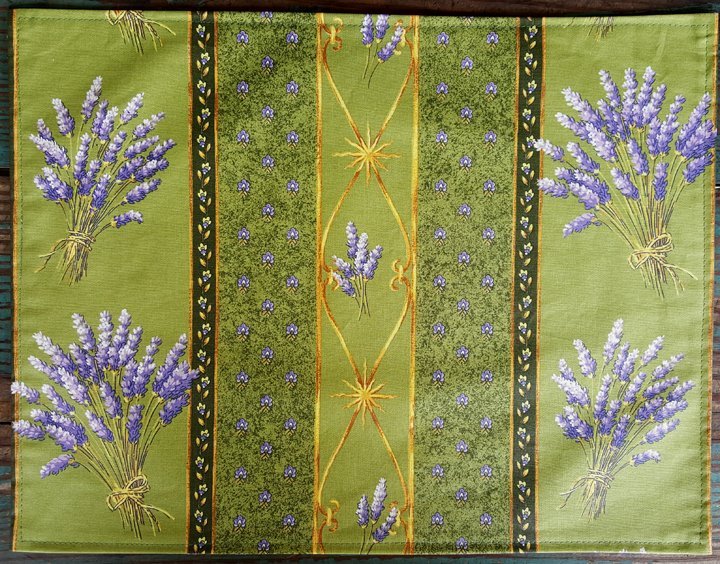 Acrylic Coated French Reversible Placemat Lavender (Green)