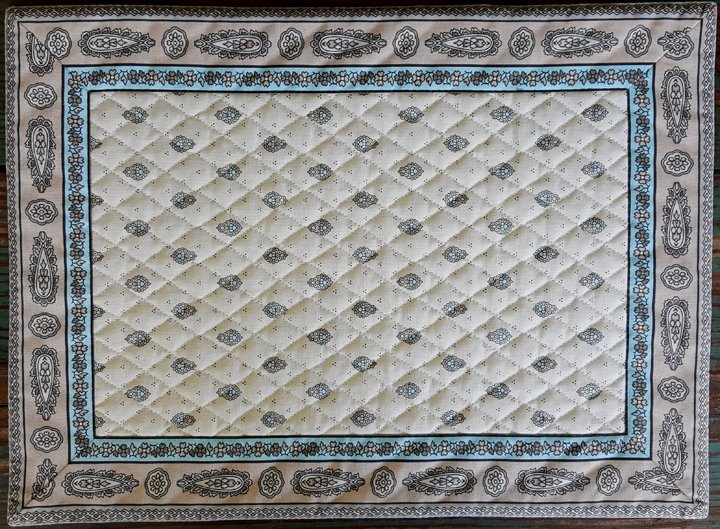 Cotton Quilted French Placemat (Gray)