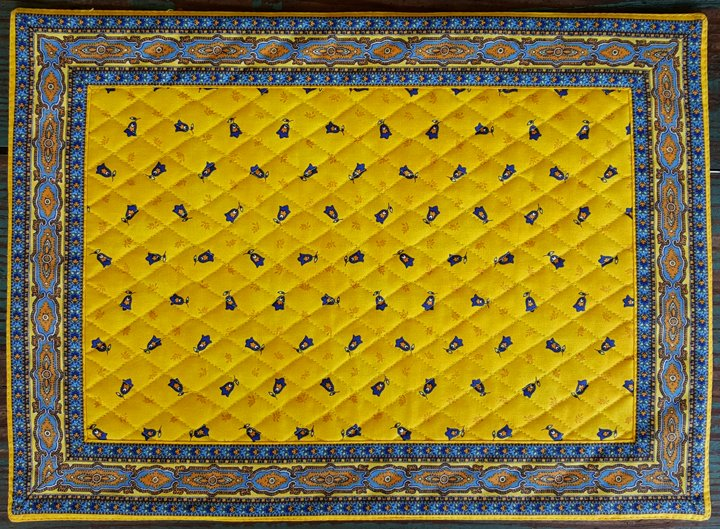 Cotton Quilted French Placemat (Yellow)