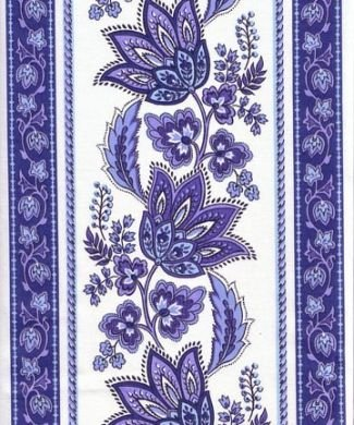 French fabric (Blue & White Lisa border) #171