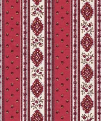 French Esterel fabric (Rose border) #223