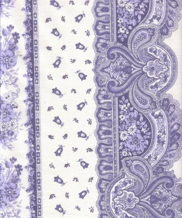 French Tradition fabric (Blue & Off-White border) #353