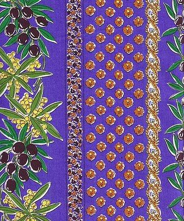 French Olive fabric (Blue border) #360