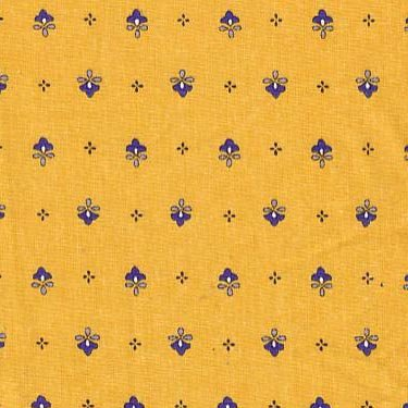 Vence gold and blue allover fabric #395