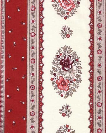 French Floral fabric (Red border) #433