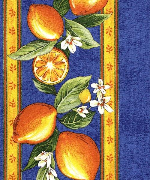Blue Lemon fabric piece #437