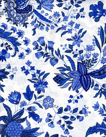 Acrylic-Coated French Blue Versailles Fabric #450