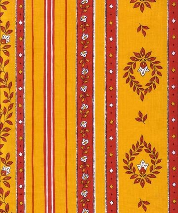 French Belgentier fabric (Red & Gold border) #492