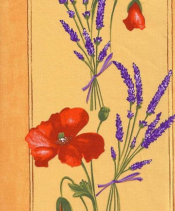 French Poppy fabric (Red & Yellow border) #502
