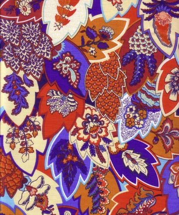 French Fuji fabric (Blue & Red) #515