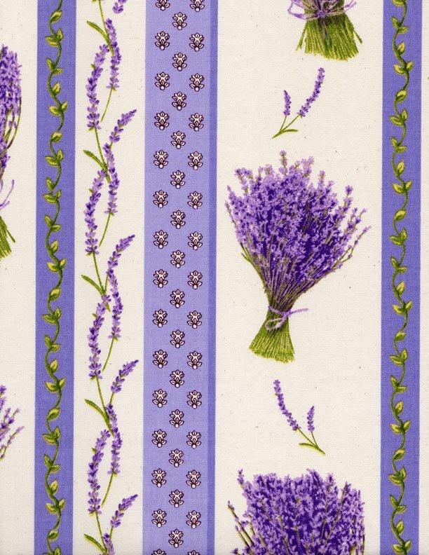 French Lavender border fabric #541