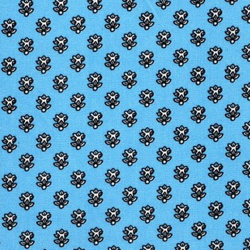 French Blue Mini-print fabric piece #546
