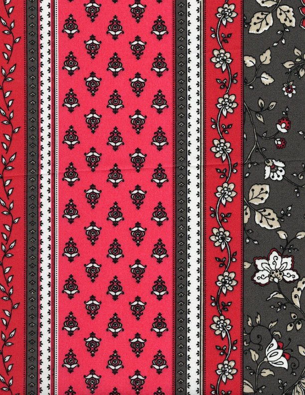 French Castellane Gray/pink fabric #552