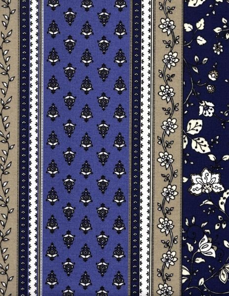 French Castellane Indigo blue fabric #555