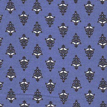 French Esparron Indigo fabric #557