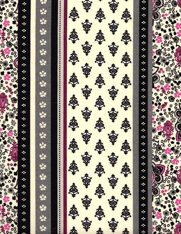 French Vacqueyras fabric (Purple border) #564
