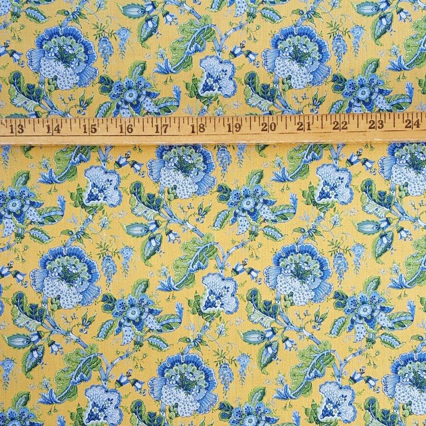 Gold Valdrome Makayla floral fabric #596