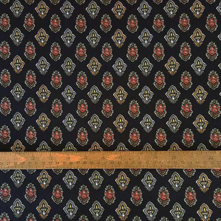 French Black Valdrome Calisson fabric #602