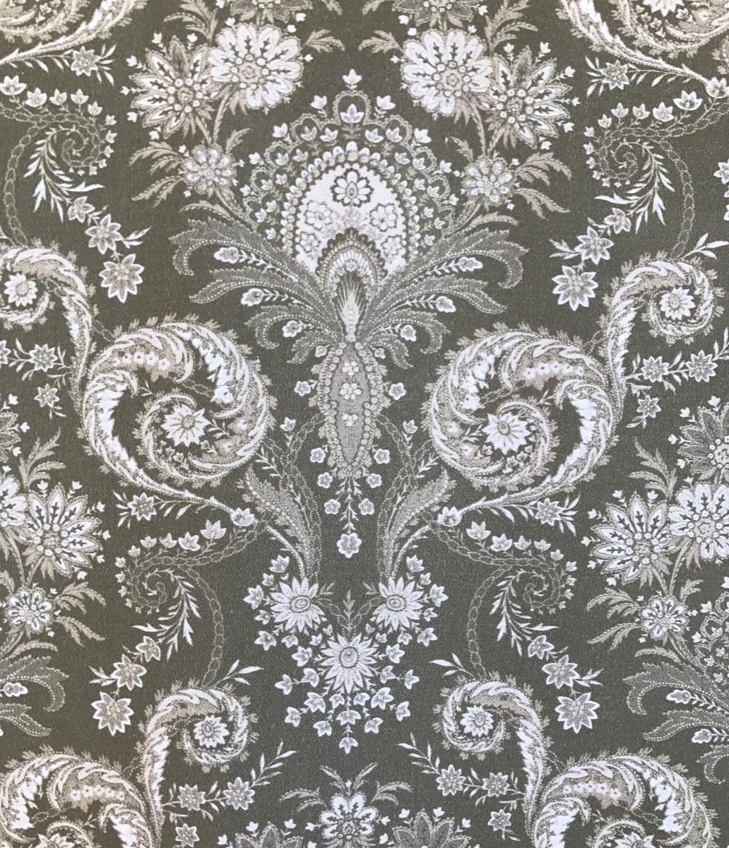 French Valdrome Kalian fabric (Gray) #656