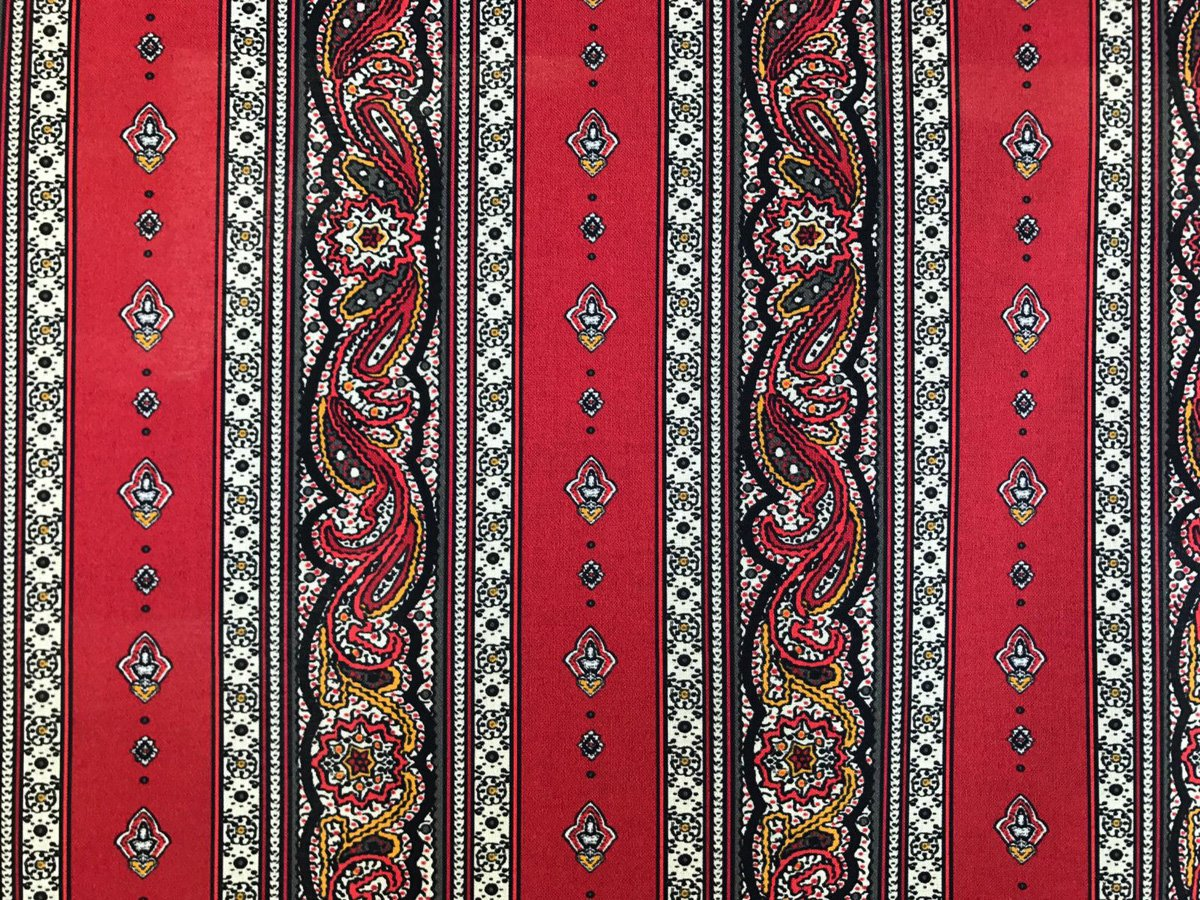 French Valdrome Galon Fabric (red) #659