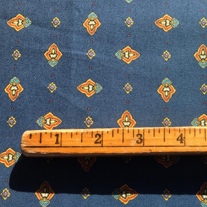 Valdrome Croquet (blue) Quilt Piece #662