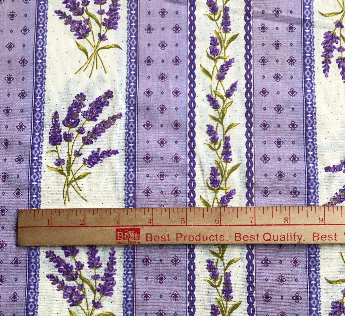 Lavender border fabric #665