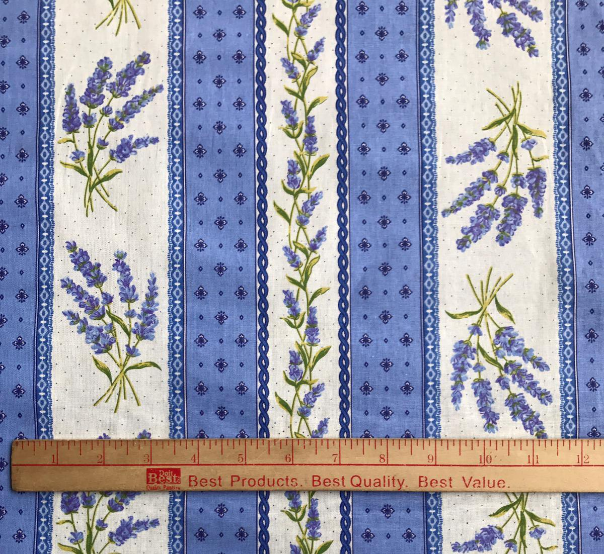 Lavender blue border fabric #667