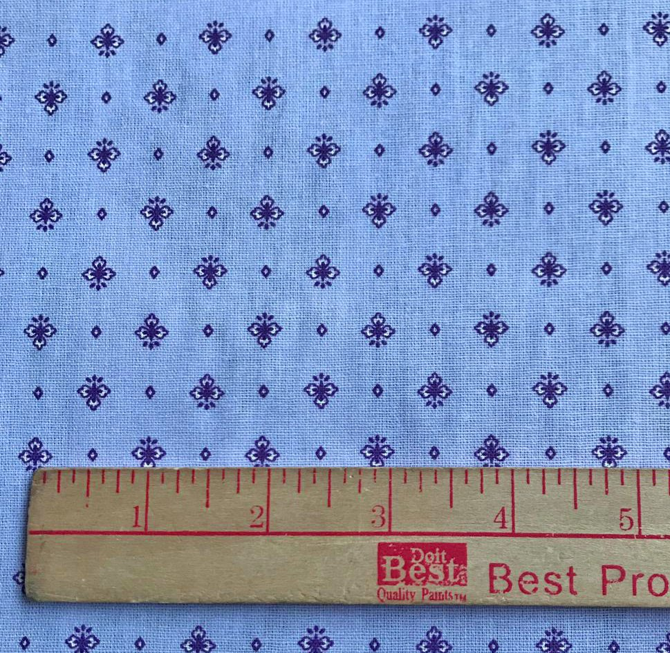 Lavender blue small print fabric #668