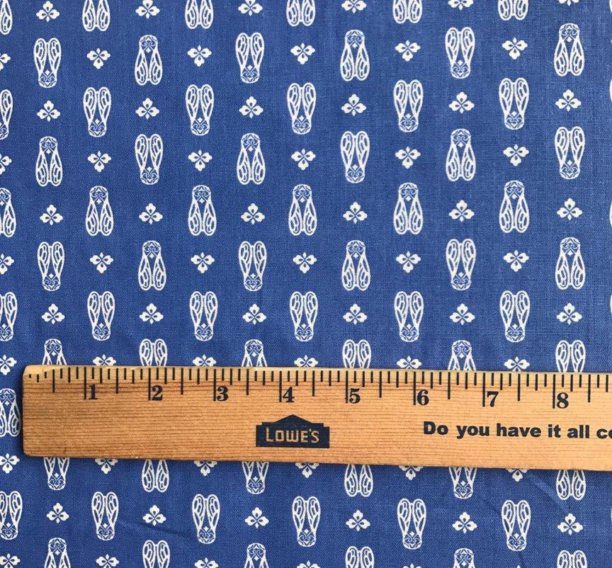French Blue Cicada Fabric #677
