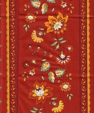 French Provence fabric ''Faience rouge'' #111