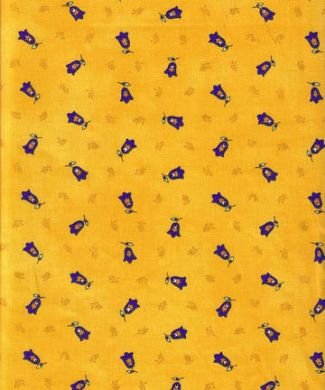 Tradtion yellow small print fabric #80