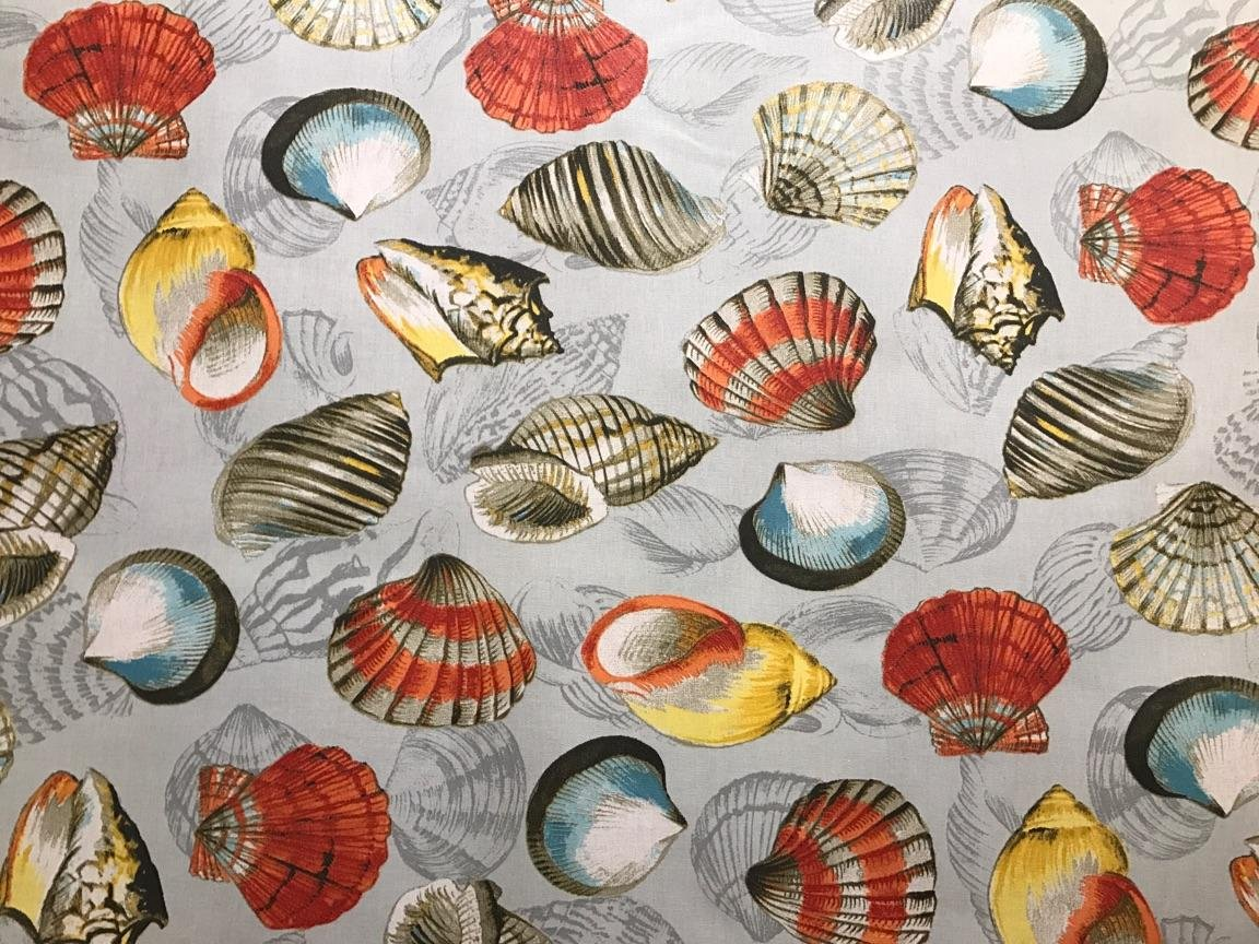 Acrylic Coated Multi-colored Seashell Fabric #602