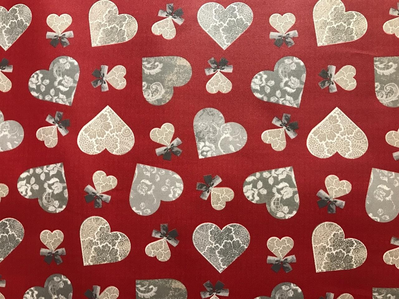 Acrylic Coated French Heart Fabric #604