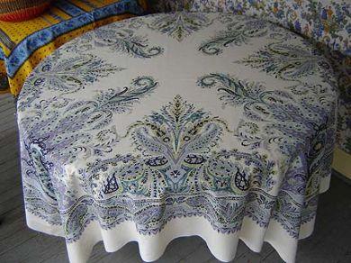 Purple paisley ''St. Tropez'' square tablecloth panel #95